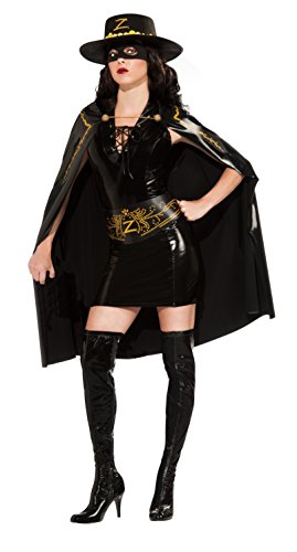 Secret Wishes Women's Zorro Lady Zorro Adult Costume Dress, Multicolor, Medium -