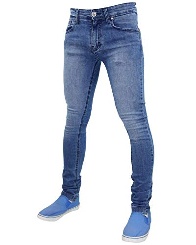 Cotone 72 G Cerniera Skinny In Pantaloni Slim Elasticizzati Fit Wash Stone Mens Jeans vUqwd5q
