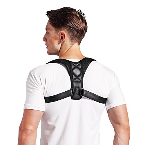Conbays Back Posture Corrector for Women Men Adjustable Clavicle Brace Support Shoulder Connector Upper Back Pain Relief Posture Support Strap for Home Office by Conbays (Image #1)