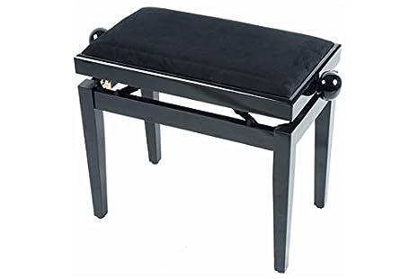 Panca sgabello per pianoforte colore palissandro opaco seduta in