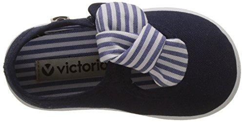Victoria Mercedes Lona Pañuelo, Bailarinas Para Bebés Azul (Marino)