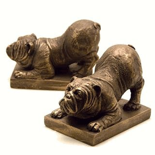 Bulldog Bookends Pair