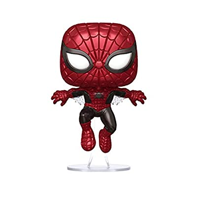 Funko POP! Marvel 80 Years # 593 - First Appearance Spider-Man [Metallic] H.T. Exclusive: Toys & Games