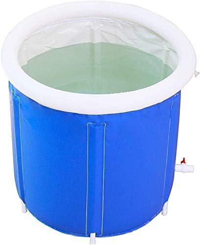折り畳み式厚く暖かい大人バスタブ家庭用フルボディバスバレル肥厚子供のシャワー盆地シート浴場 (Color : Blue)