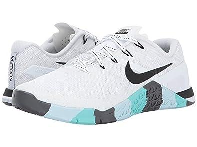 nike di donne metcon 3 formazione bianco / nero / buio scarpe (