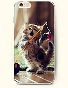 iPhone 6 Case 4.7 Inches Cat Playing with the Ball - Hard Back Plastic Phone Cover OOFIT Authentic