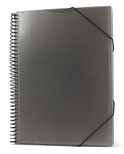 Pryse 4240050–Spiral Folder with 50Sleeves, A4, Grey by PRYSE (Image #3)
