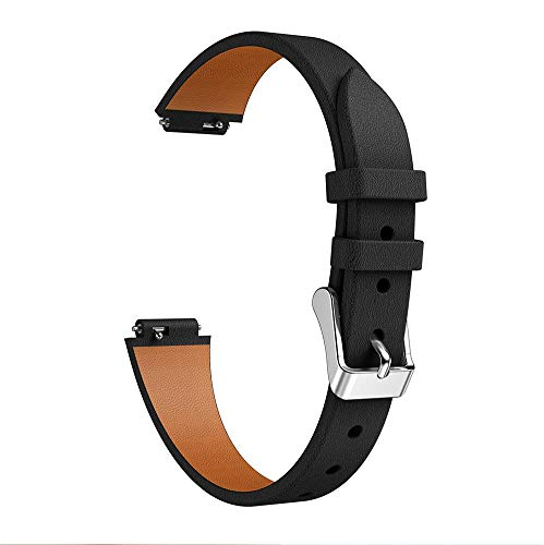 Leather Watch Band Watch Strap Wristband Wrist Strap 13.5-20.5cm Long for Fitbit Inspire HR - 3 Colors Avaliable