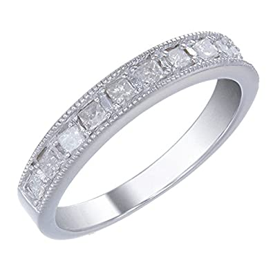 Sterling Silver Diamond Wedding Band (2/5 CT)
