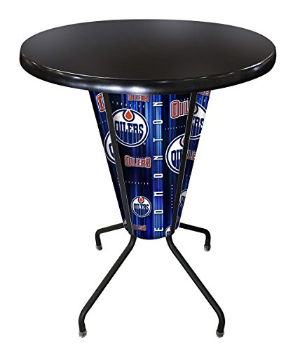Edmonton Oilers Pub Table - Holland Bar Stool Co. Outdoor/Indoor LED Lighted Edmonton Oilers Pub Table