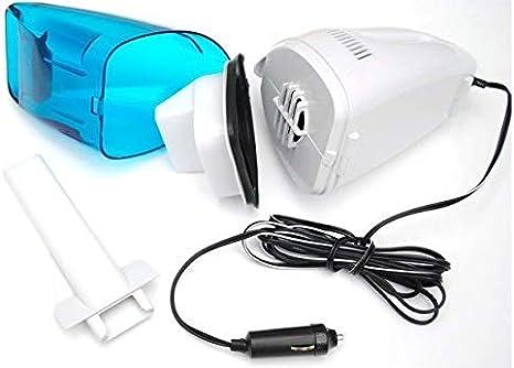 مكنسة كهربائية محمولة للسيارات حجم ميني 60 واط 12 فولت، لون ازرق وابيض