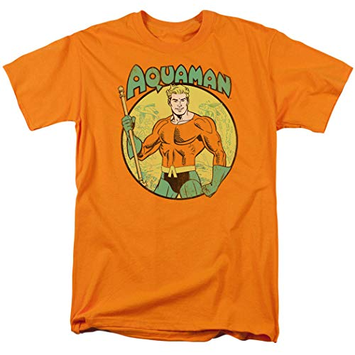 Aquaman DC Comics King of Atlantis T Shirt (XX-Large) Orange