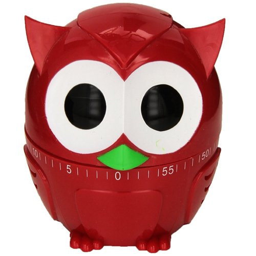 Kikkerland Owl (Kikkerland Owlet Kitchen Timer, Assorted Colors)