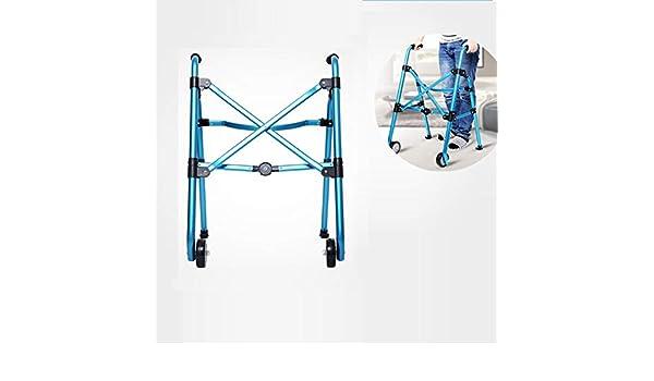 PXSRANY Andador para Adultos,Aluminio,Plegable,2 Ruedas,Regulable ...