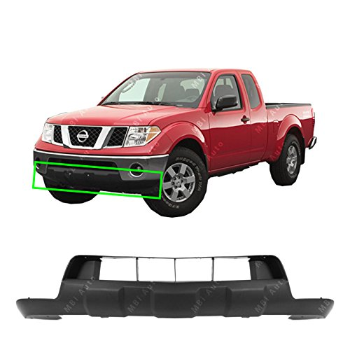 (MBI AUTO - Textured, Black Lower Front Bumper Cover Skid Pad for 2005-2018 Nissan Frontier 05-16, NI1015100)