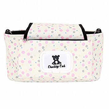 Black Pink Baby Girl Diaper Bag with Easy Access Storage /& Wipe Dispenser