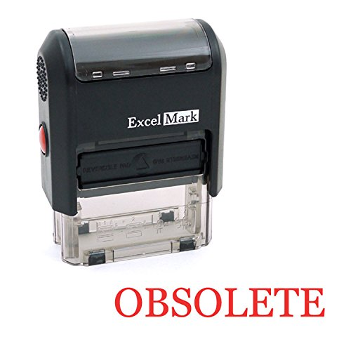 OBSOLETE Self Inking Rubber Stamp - Red Ink (ExcelMark A1539)