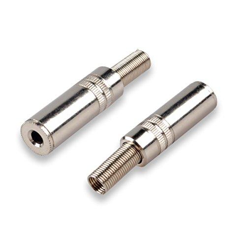 Conwork 5-Pack 3.5mm 1/8 inch Stereo Balanced TRS Female Socket Jack Connector Repair Headphone Earphone Jack Soldering Adapter