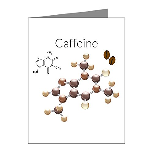 Note Cards (20 Pack) Caffeine Lover 3D Atomic Structure]()