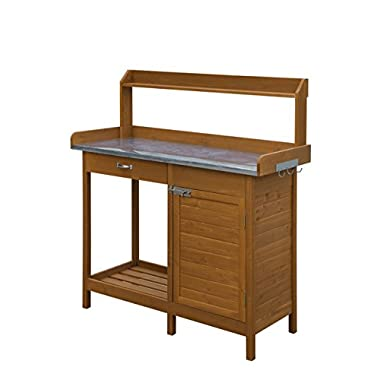Convenience Concepts Deluxe Potting Bench With Cabinet