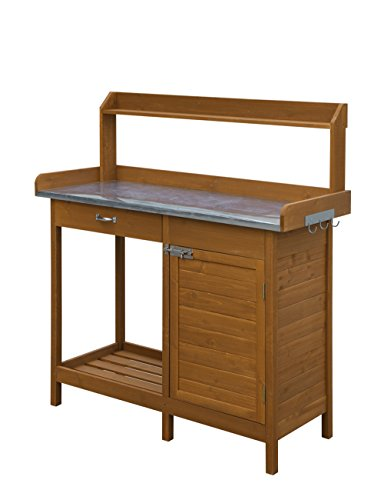 Convenience Concepts Deluxe Potting Bench With Cabinet (Greenhouse Bench)