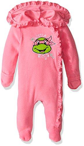 [Nickelodeon Baby Girls' Teenage Mutant Ninja Turtle Outwear Pram, Pink, 3-6 Months] (Tmnt Outfit)