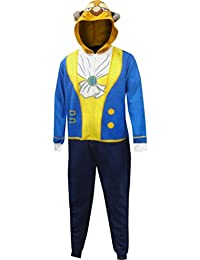 Disney Men's Beauty and The Beast Be The Beast One Piece Pajama