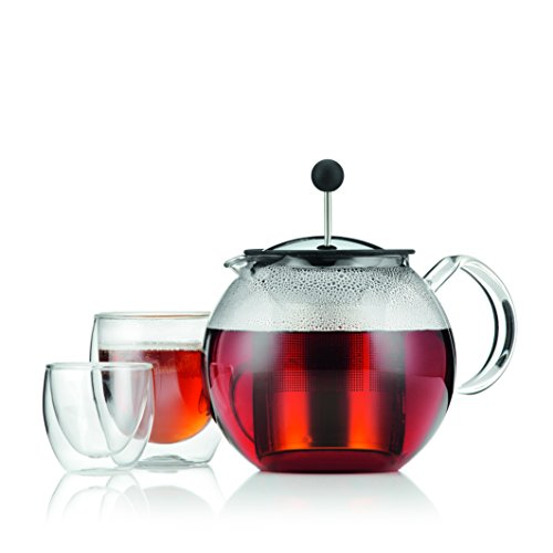 Bodum 1801-16US4 ASSAM Teapot, Glass Teapot with Stainless Steel Filter, 34 Ounce by Bodum (Image #5)