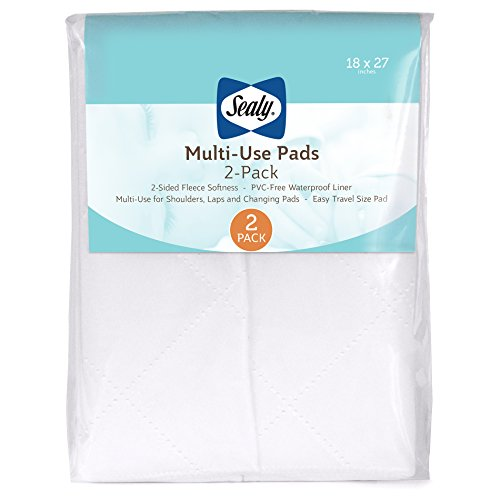 - Sealy Multi-Use Fleece Liner Pads: 2-Pack, 18
