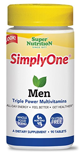 Cheap SuperNutrition SimplyOne Men's Once Daily, All-In-One Multivitamin, 90 Count