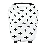 YeahiBaby Baby Nursing Breastfeeding Cover Scarf Car Seat Canopy Stroller Covers (cross-shaped)