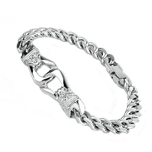 AMDXD Jewelry Stainless Steel Bracelets Charms Bracelet Punk Rock Bracelets