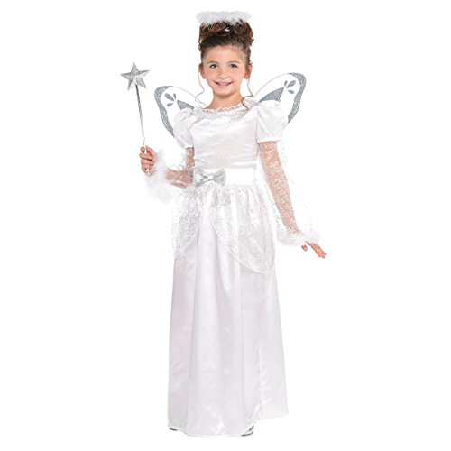 Child's Christmas Angel With Halo Nativity Fancy Dress Party Costume (Large (12-14)) Party Angel Dress