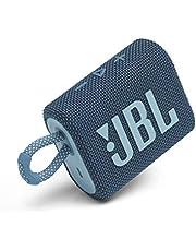 JBL Go 3: Portable Speaker with Bluetooth, Builtin Battery, Waterproof and Dustproof Feature Blue JBLGO3BLUAM