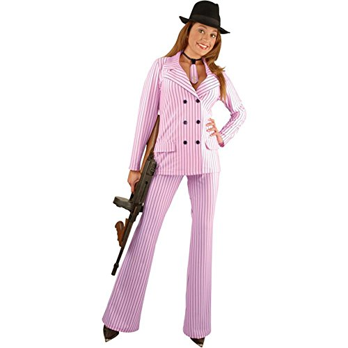 (BOS Women's Gangster Moll Suit Costume, Size X-Large 18-22, Color Red)