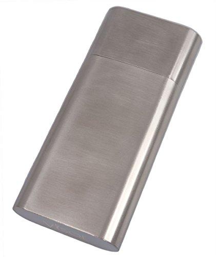Metal Cigar Case (Visol Products VCASE784 Colton Brushed Steel Large Cigar Case)