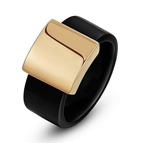 ClothingTalks Wide Ring For Men And Women Anel Aneis Rose Ring - Women Anel
