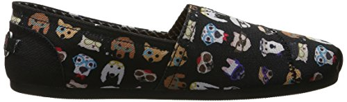 Skechers Bobs De Mujeres Plush-wag Party Flat Black Pup