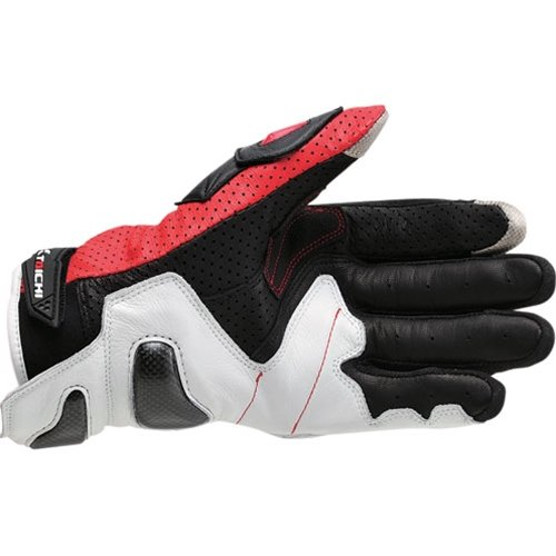 RS TAICHI RST408 RED RAPTOR SPORT LEATHER MESH McFit GLOVES (XXL)