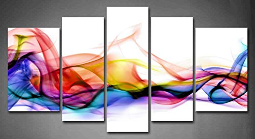 5 Panel Wall Art Fresh Look Color Abstract Smoke Colorful for sale  Delivered anywhere in Canada