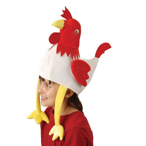 U.S. Toy H530 Rooster Hat]()
