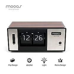 Mooas Retro Flip Desk Clock, Flip Clock, Retro Design Desk Clock