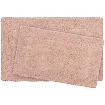 Amazon Com Laura Ashley Ruffle Cotton 2 Piece Bath Rug