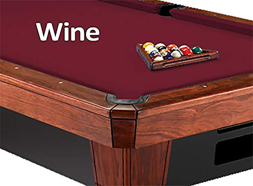 - 8' Oversized Simonis 860 Wine Billiard Pool Table Cloth Felt