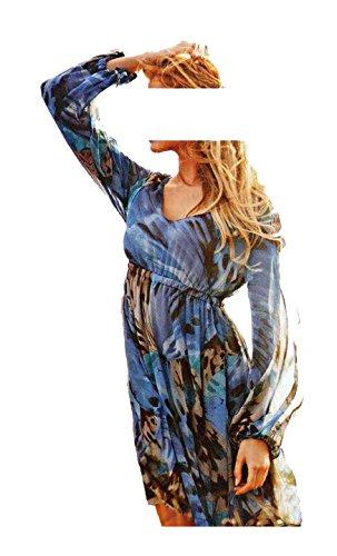 APART Damen-Kleid Chiffonkleid Mehrfarbig Größe 38