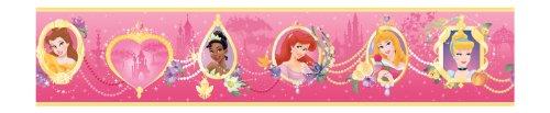 York Wallcoverings Disney Kids DK5954BD Princess Frames Border, LT Pink/Dark Pink