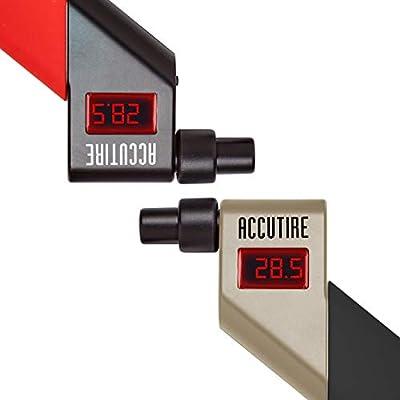 Accutire Digital Tire Pressure Gauges (Red/Black + Silver/Black) with 4 Valve Caps: Automotive