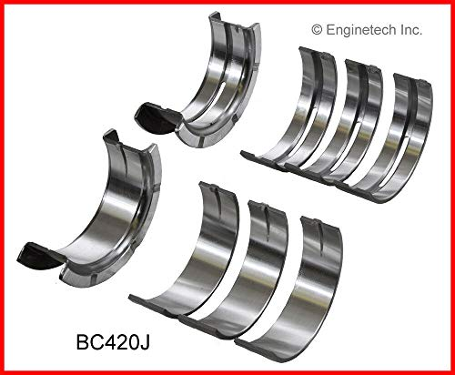 ENGINETECH BC420JSTD MAIN BEARINGS compatible with 1982-2008 FORD 232 238 256 3.8L 3.9L 4.2L V6 ESSEX (CAR & TRUCK ENGINES)