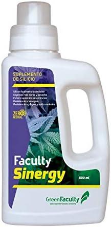 GreenFaculty - Faculty SINERGY. Fertilizante ABONO SUPLEMENTO DE SILICIO. Líquido ECOLÓGICO 500 mL. Cero Residuos. Apto para Cultivo Medicinal