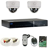 GW Security VD4CH2C807 4 Channel Complete 960H Security Camera System with Remote Viewing (White)